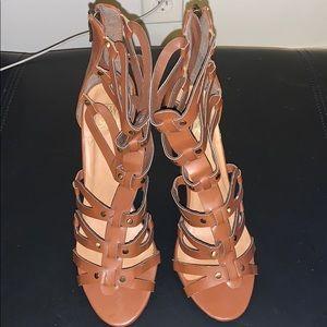 Speed Limit 98 Brown Sandal Heel